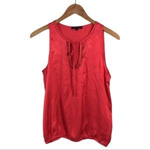 WS467 Violet & Claire Tie Dye Sheer Blouse Top M